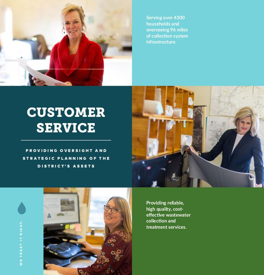 Customer Service providing oversight and strategic planning of the district's assets.